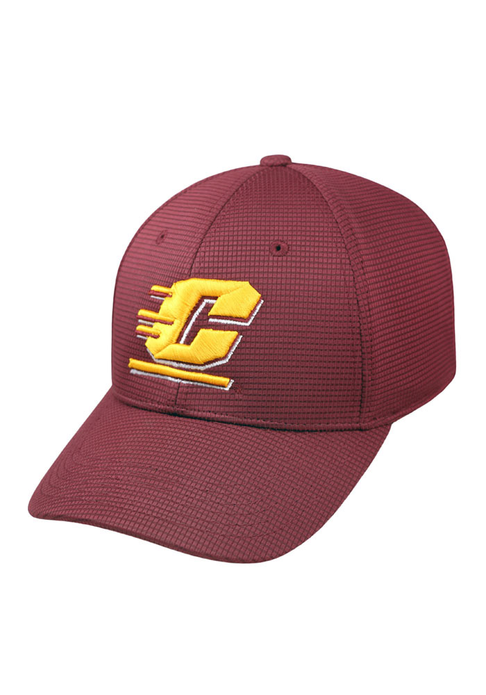Top of the World Central Michigan Chippewas Mens Maroon Booster Plus Flex Hat - Image 1