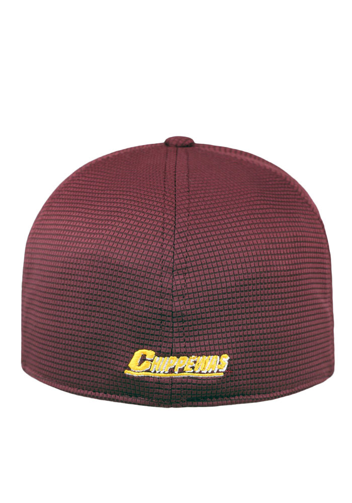 Top of the World Central Michigan Chippewas Mens Maroon Booster Plus Flex Hat - Image 2