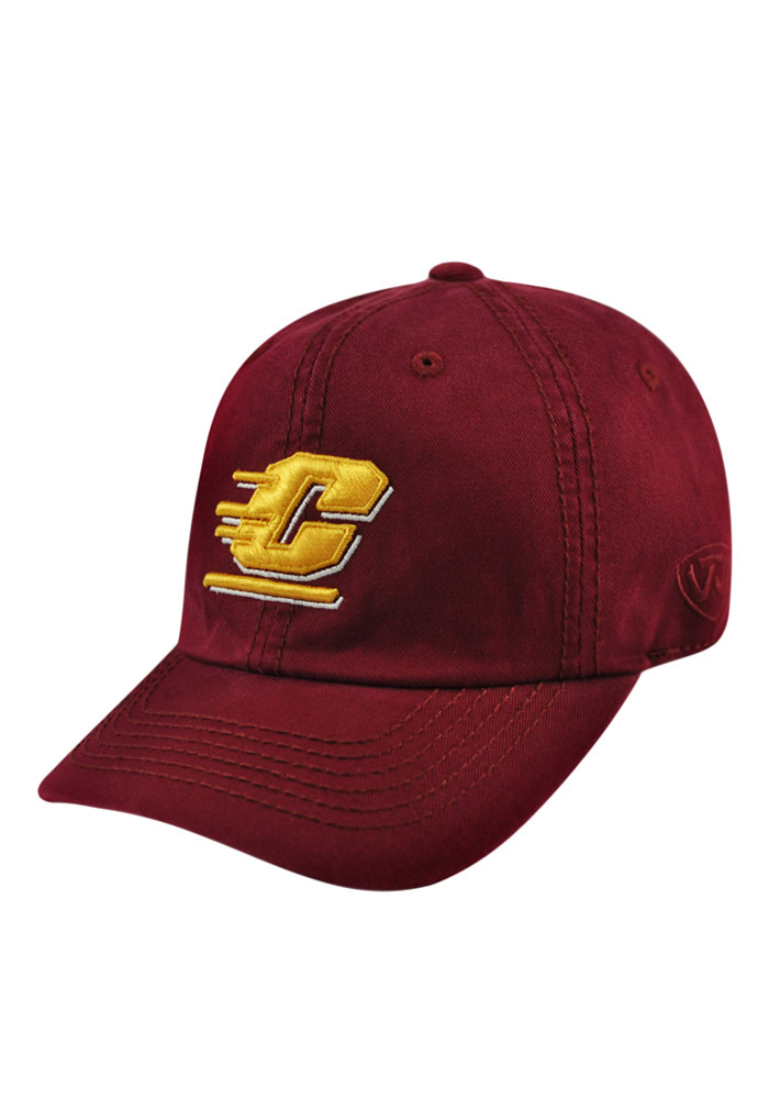 Top of the World Central Michigan Chippewas Mens Maroon Crew Adjustable Hat - Image 1