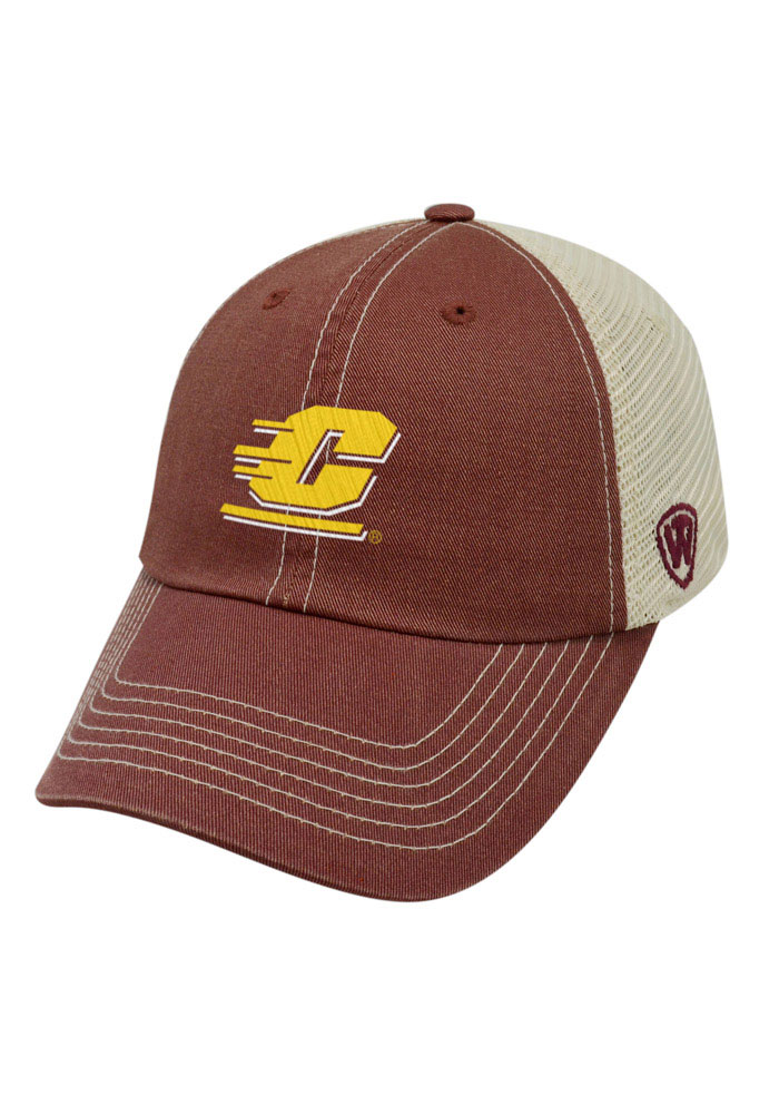 Top of the World Central Michigan Chippewas Mens Maroon Vintage Mesh Adjustable Hat - Image 1