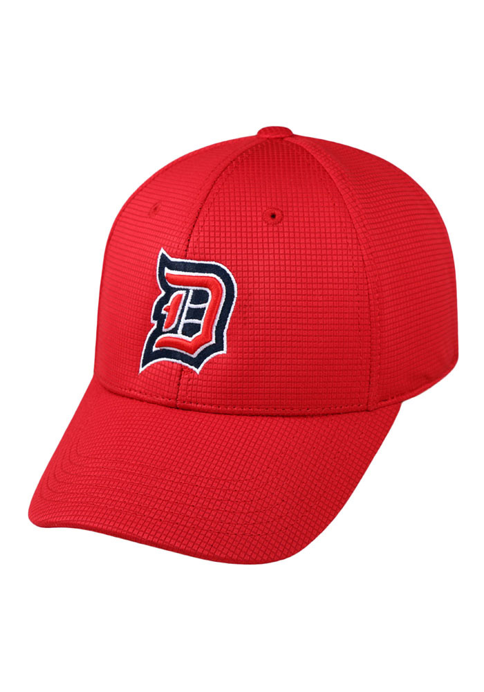 Top of the World Duquesne Dukes Mens Red Booster Plus Flex Hat - Image 1