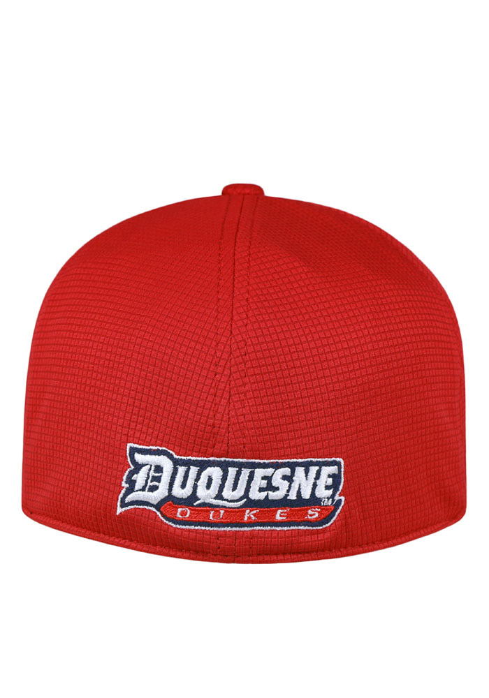 Top of the World Duquesne Dukes Mens Red Booster Plus Flex Hat - Image 2