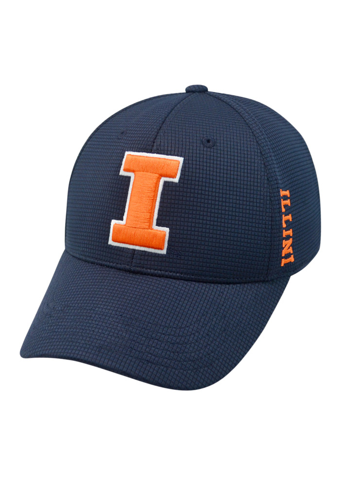 Top of the World Illinois Fighting Illini Mens Navy Blue Booster Plus Flex Hat - Image 1