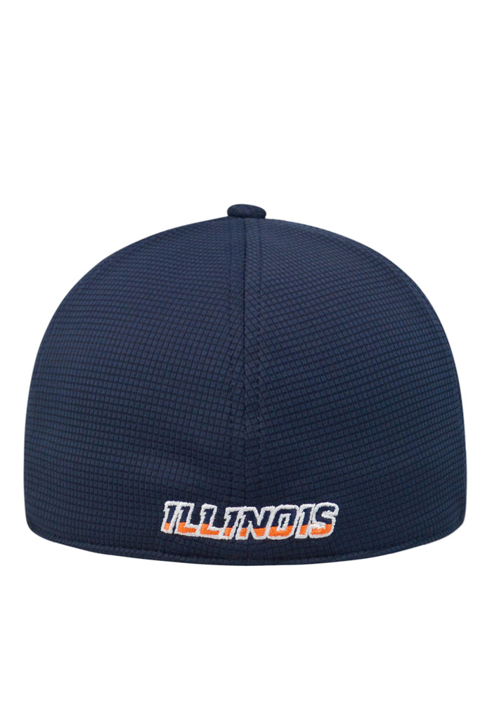 Top of the World Illinois Fighting Illini Mens Navy Blue Booster Plus Flex Hat - Image 2