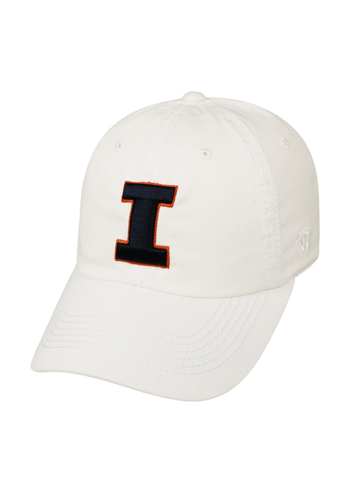 Top of the World Illinois Fighting Illini Mens White Crew Adjustable Hat - Image 1