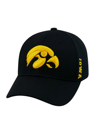 Top of the World Iowa Hawkeyes Mens Black Booster Plus Flex Hat
