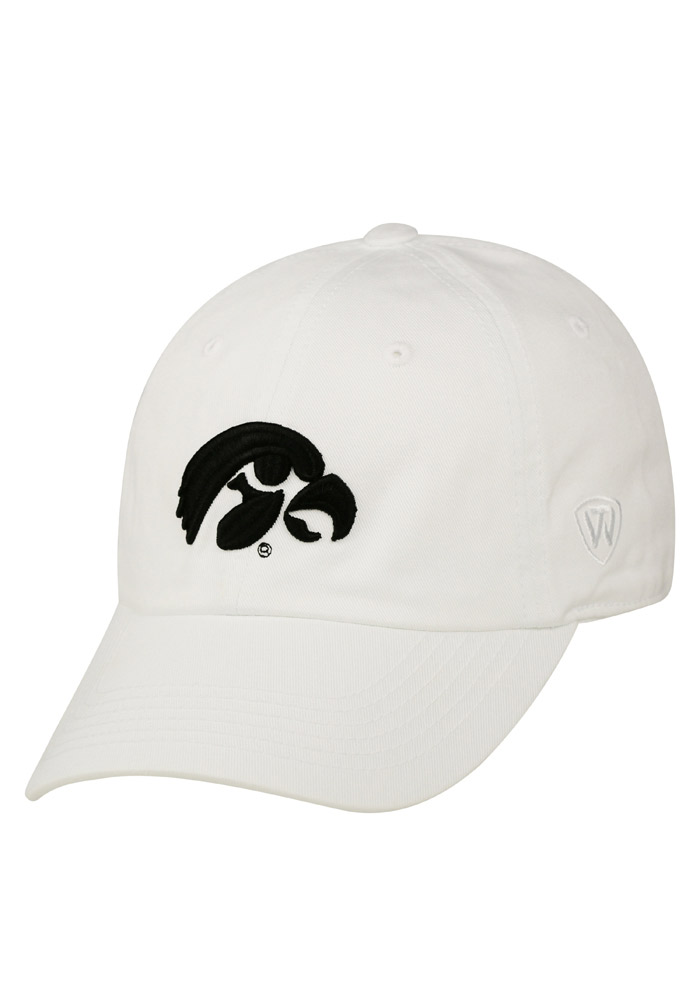 Top of the World Iowa Hawkeyes Mens White Crew Adjustable Hat - Image 1