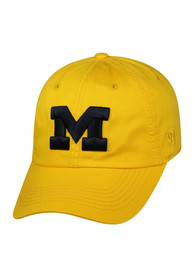 Michigan Wolverines Top of the World Crew Adjustable Hat - Yellow