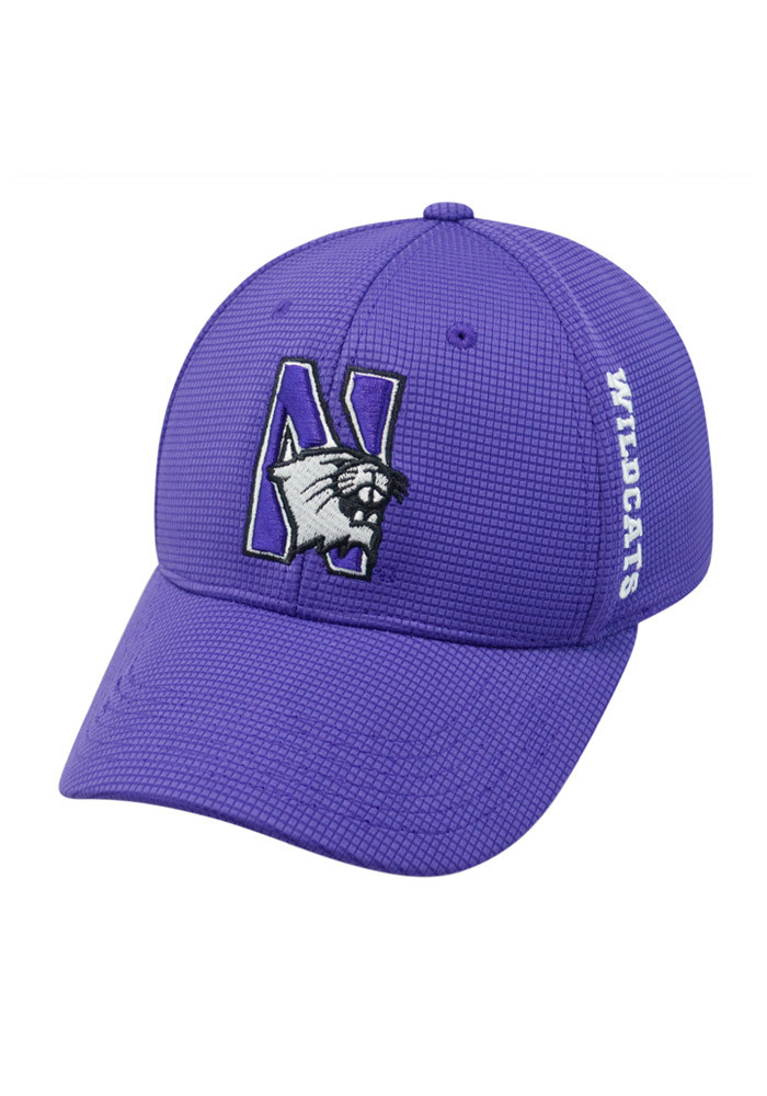 Top of the World Northwestern Wildcats Mens Purple Booster Plus Flex Hat - Image 1