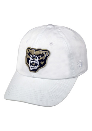 dfb73af7094 Top of the World Oakland University Golden Grizzlies White Crew Adjustable  Hat