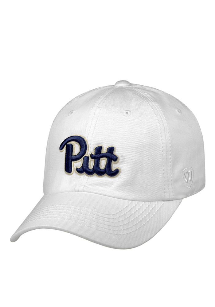 Top of the World Pitt Panthers Mens White Crew Adjustable Hat - Image 1