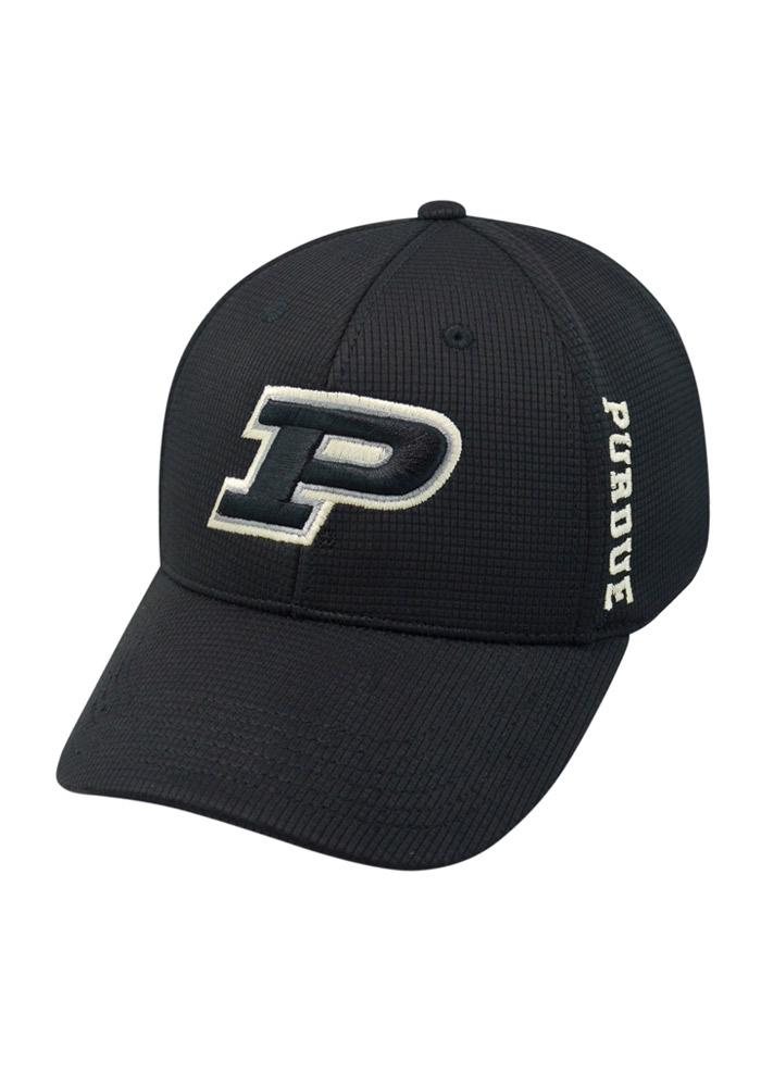 Top of the World Purdue Boilermakers Mens Black Booster Plus Flex Hat - Image 1