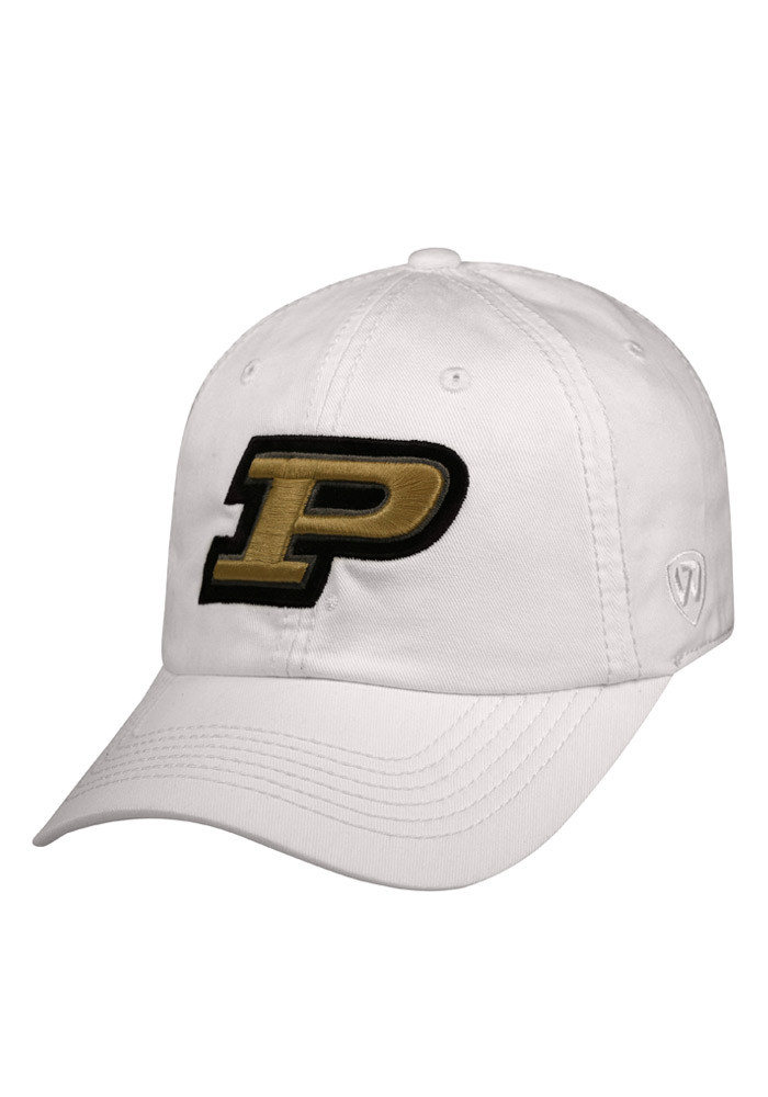 Top of the World Purdue Boilermakers Mens White Crew Adjustable Hat - Image 1