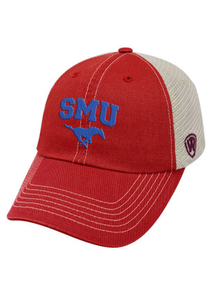 Top of the World SMU Mustangs Mens Red Vintage Mesh Adjustable Hat