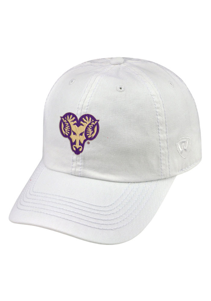 Top of the World West Chester Golden Rams Mens White Crew Adjustable Hat - Image 1