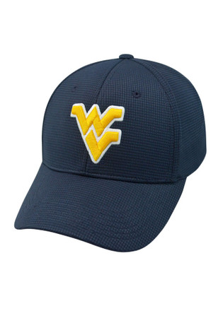 Top of the World West Virginia Mountaineers Mens Navy Blue Booster Plus Flex Hat