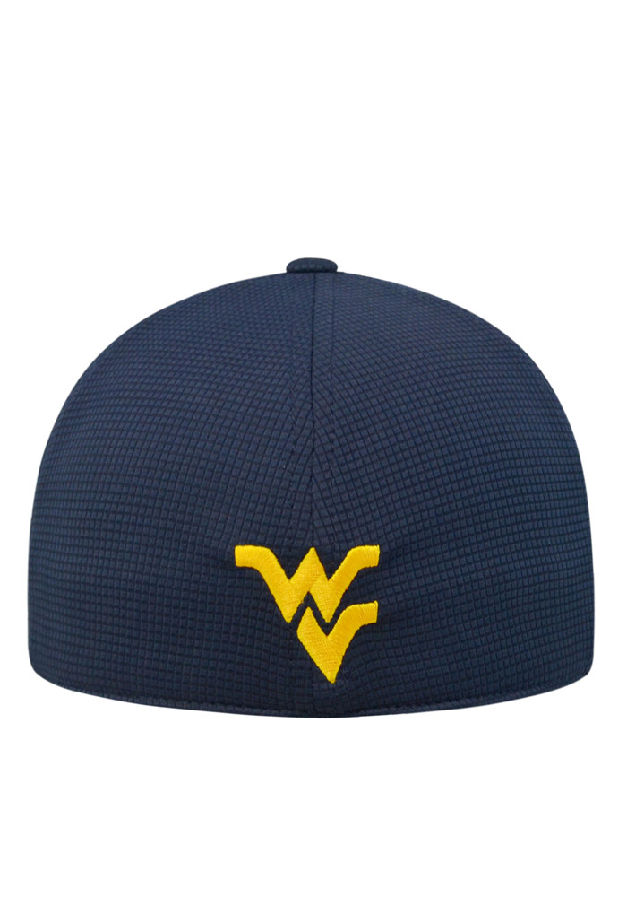 Top of the World West Virginia Mountaineers Mens Navy Blue Booster Plus Flex Hat - Image 2