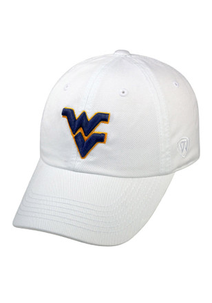 Top of the World West Virginia Mountaineers Mens White Crew Adjustable Hat