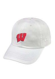 Wisconsin Badgers Top of the World Crew Adjustable Hat - White