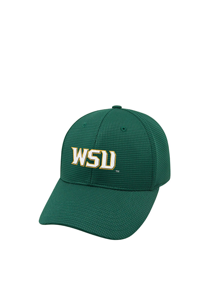 Top of the World Wright State Raiders Mens Green Booster Plus Flex Hat - Image 1