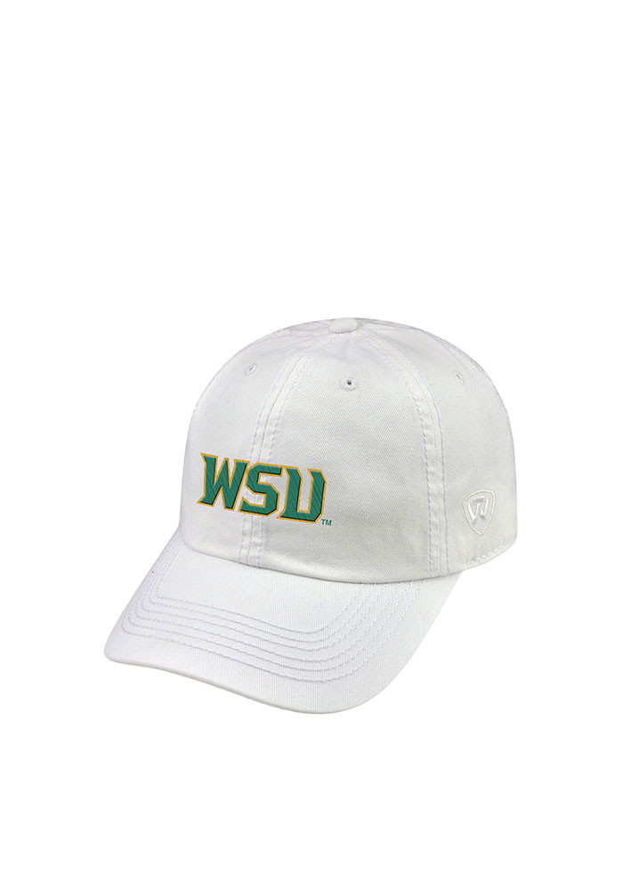 Top of the World Wright State Raiders Mens White Crew Adjustable Hat - Image 1