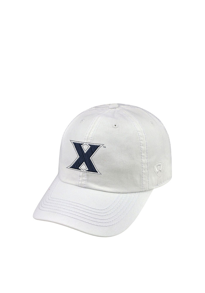 Top of the World Xavier Musketeers Mens White Crew Adjustable Hat - Image 1