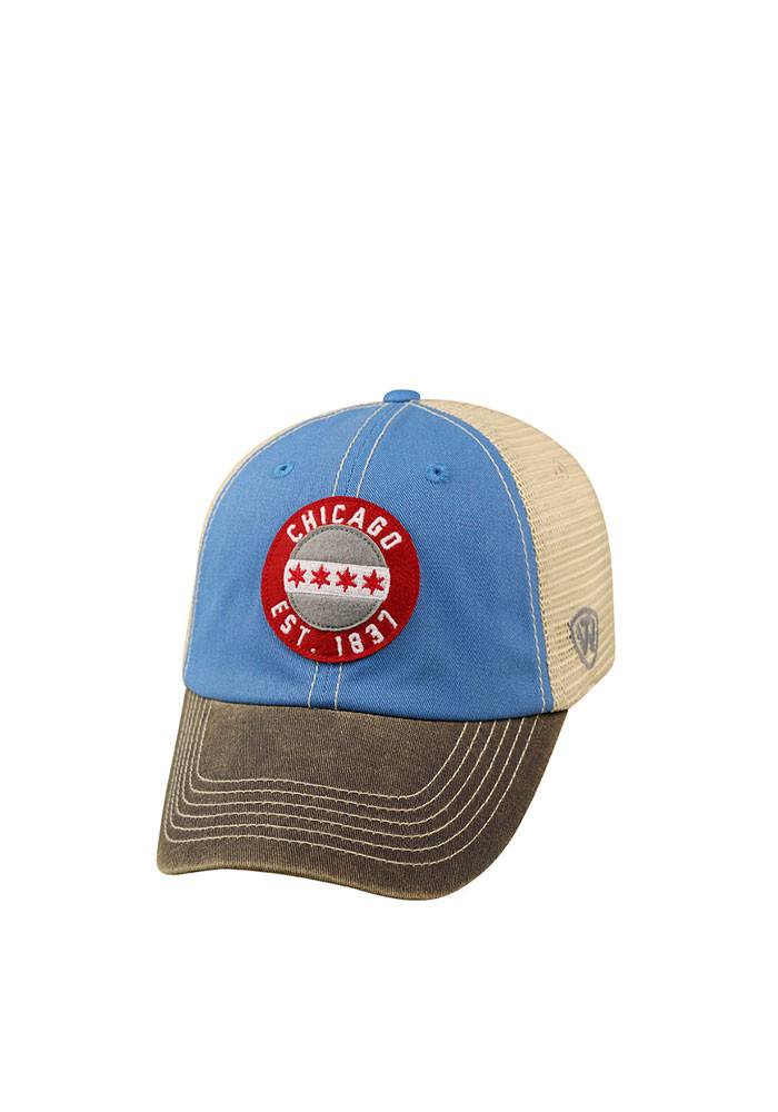 Top of the World Chicago Mens Blue Offroad Adjustable Hat - Image 1