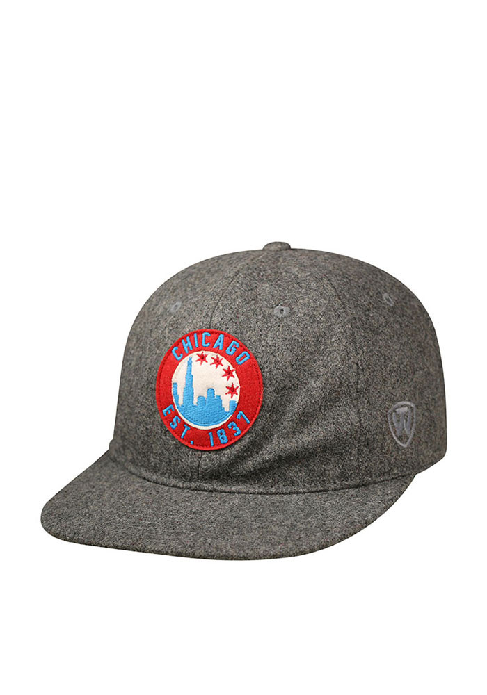 Top of the World Chicago Mens Grey Natural Adjustable Hat - Image 1