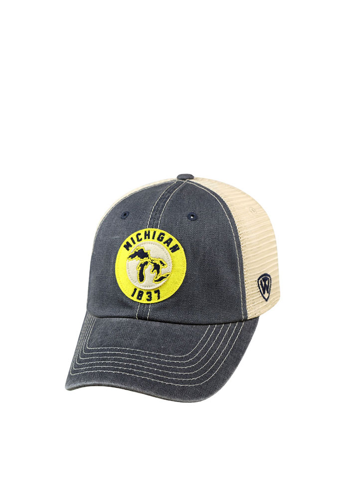 Top of the World Michigan Dirty Mesh Adjustable Hat - Navy Blue - Image 1