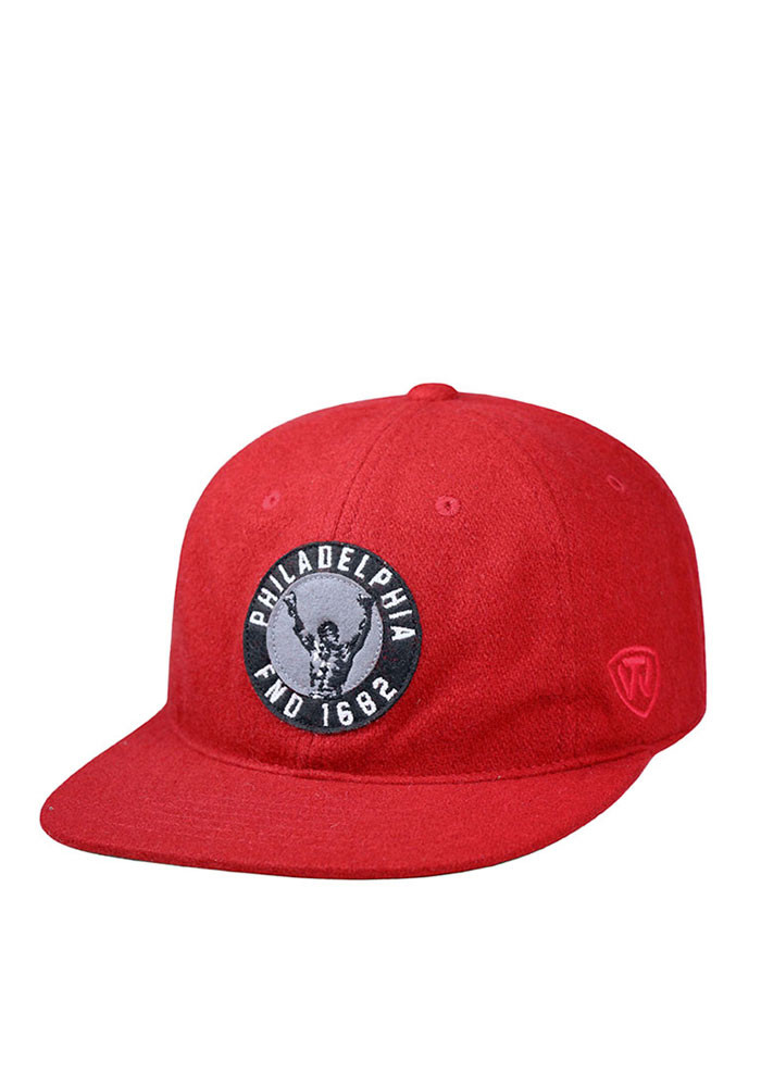 Top of the World Philadelphia Mens Red Natural Adjustable Hat - Image 1