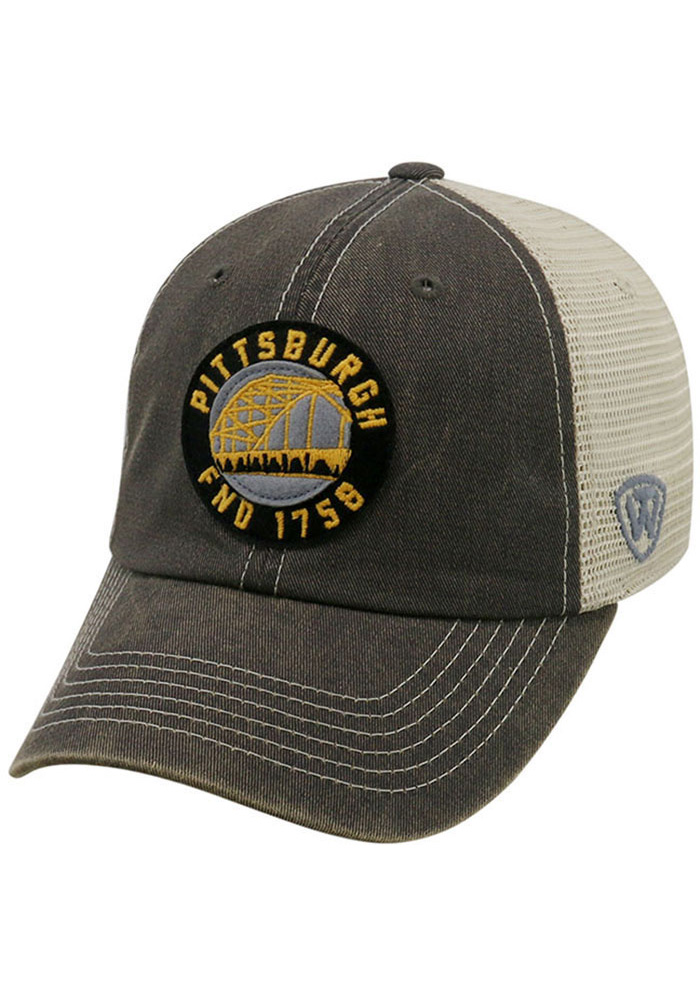 Top of the World Pittsburgh Mens Grey Dirty Mesh Adjustable Hat - Image 1