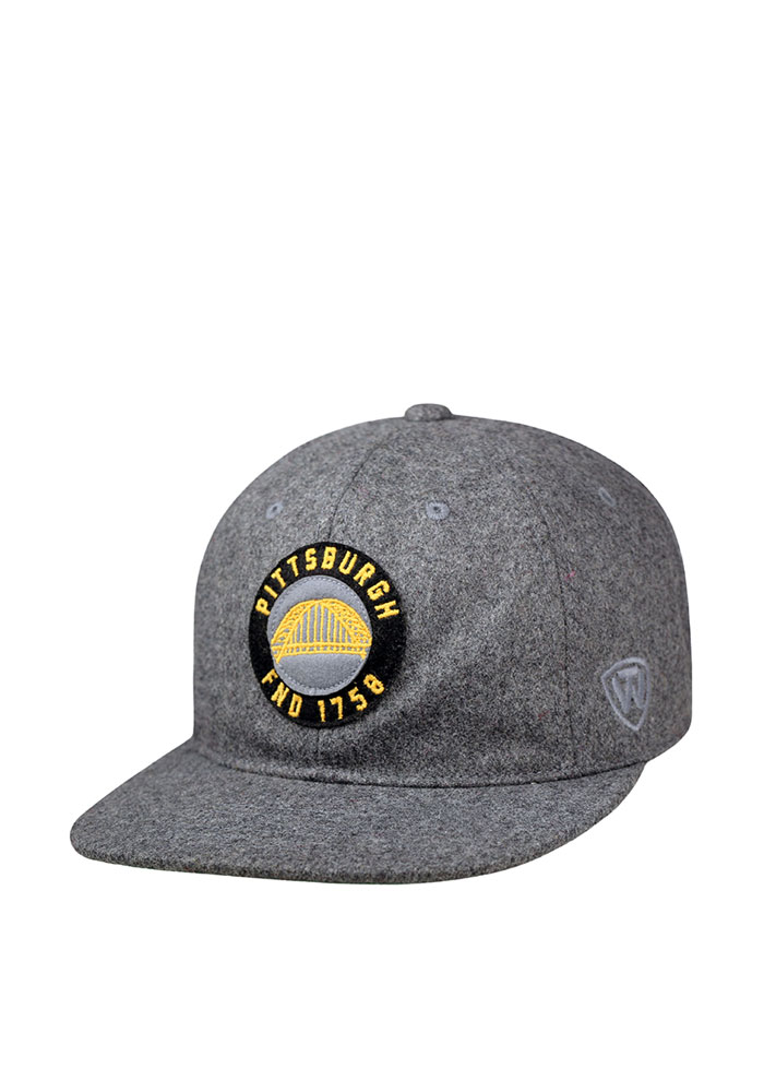 Top of the World Pittsburgh Mens Grey Natural Adjustable Hat - Image 1