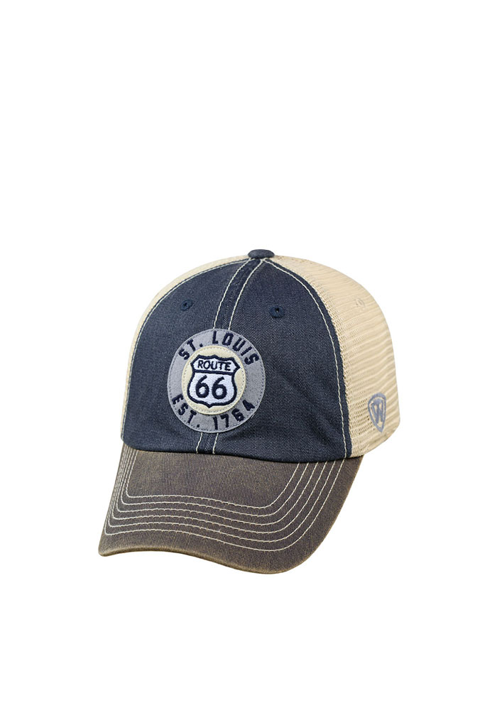 Top of the World St Louis Mens Navy Blue Offroad Adjustable Hat - Image 1
