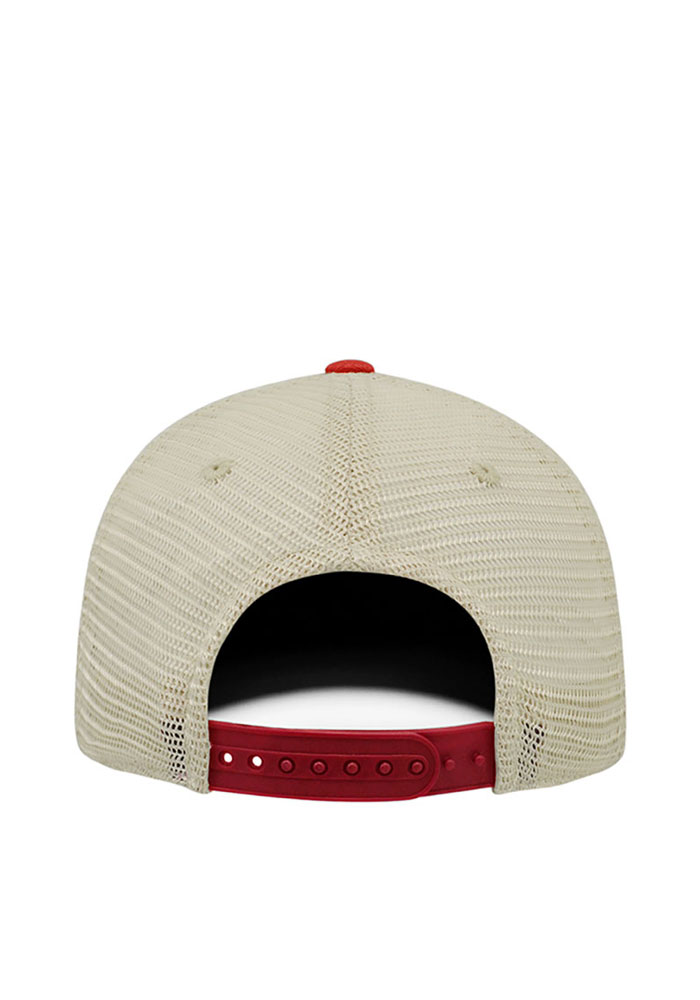 Top of the World St Louis Mens Red Dirty Mesh Adjustable Hat - Image 2
