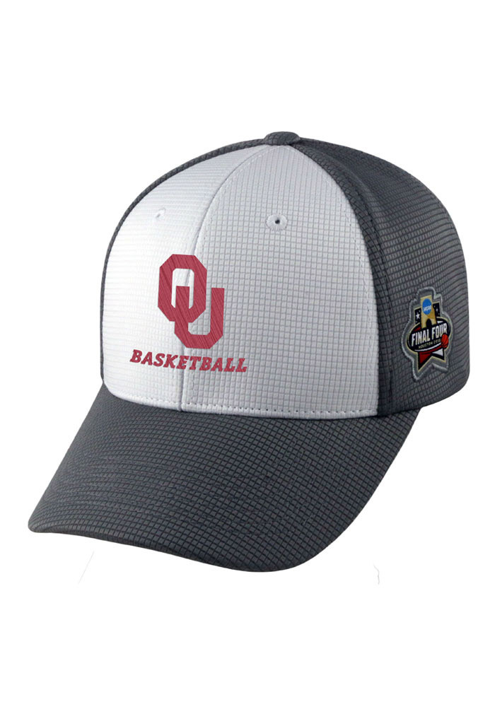 Top of the World Oklahoma Sooners Mens Grey 2016 Final 4 Performance Adjustable Hat - Image 1
