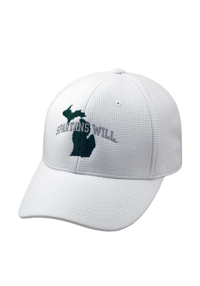 Top of the World Michigan State Spartans Mens White Spartans Will Flex Hat - Image 1