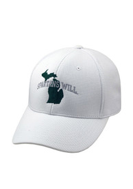 Michigan State Spartans Top of the World Spartans Will Flex Hat - White