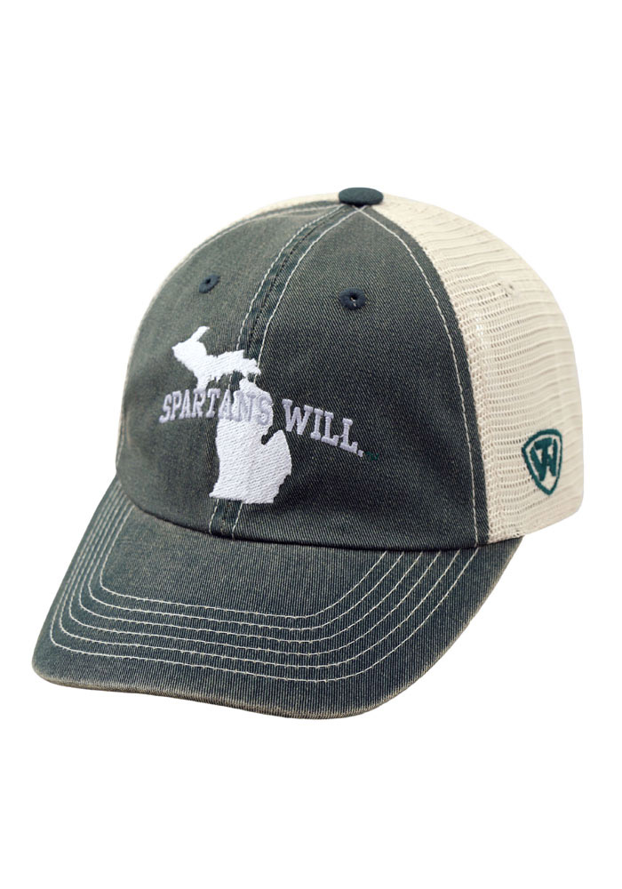 Top of the World Michigan State Spartans Spartans Will Adjustable Hat - Green - Image 1