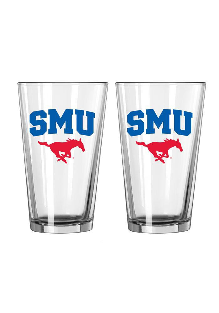 SMU Mustangs 16 oz Pint Glass - Image 1