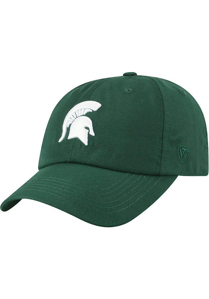 Top of the World Michigan State Spartans Staple Adjustable Hat - Green - Image 1