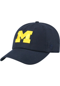 Top of the World Michigan Wolverines Staple Adjustable Hat - Navy Blue