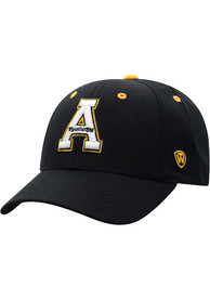 Appalachian State Mountaineers Triple Threat Adjustable Hat - Black