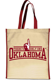 Oklahoma Sooners Red and Cream Reusable Bag