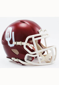Oklahoma Sooners Crimson Speed Mini Helmet