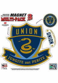 Philadelphia Union 8x8 Mulit Pack Car Magnet - Blue