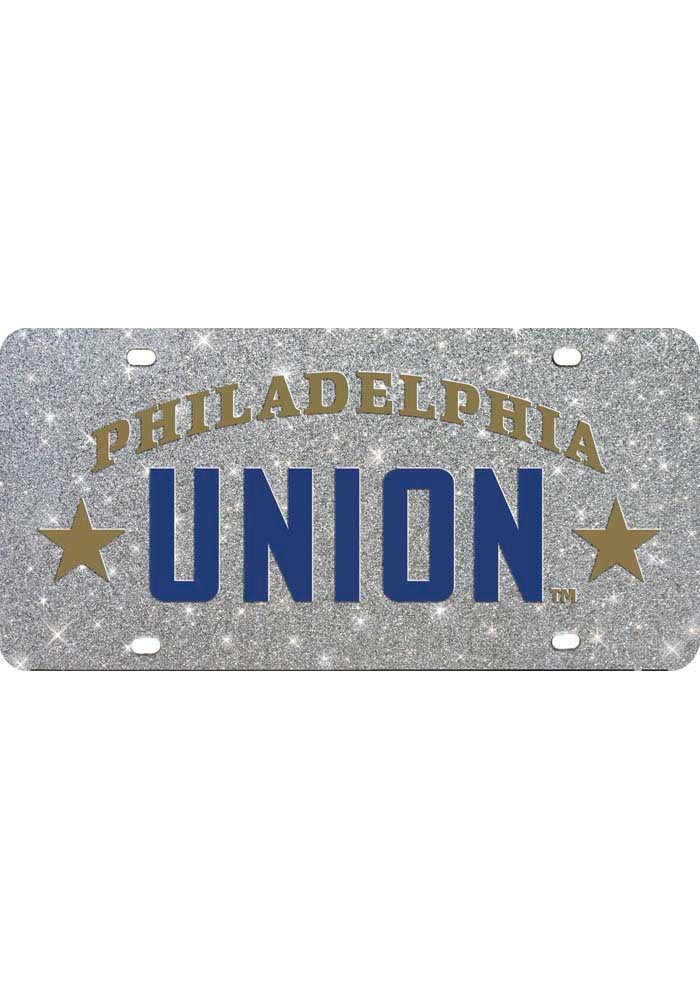 Philadelphia Union Glitter Car Accessory License Plate