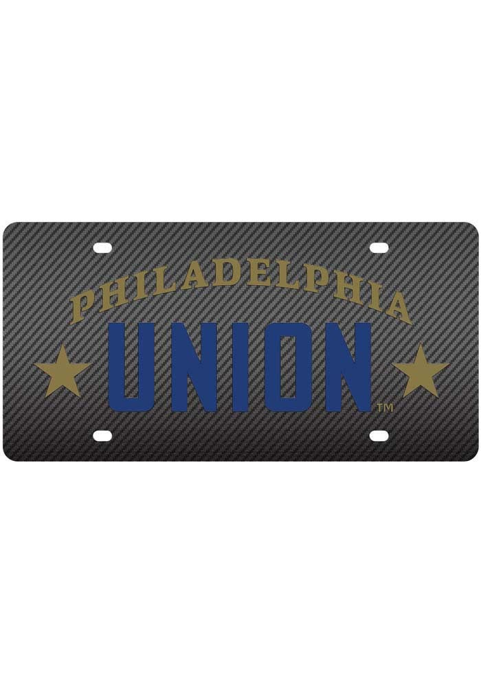 Philadelphia Union Carbon Fiber Car Accessory License Plate - Image 1