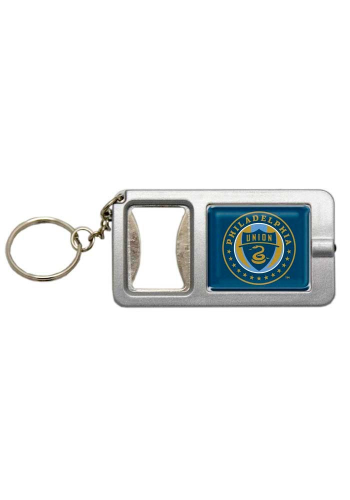 Philadelphia Union Bottle Opener with Flashlight Keychain