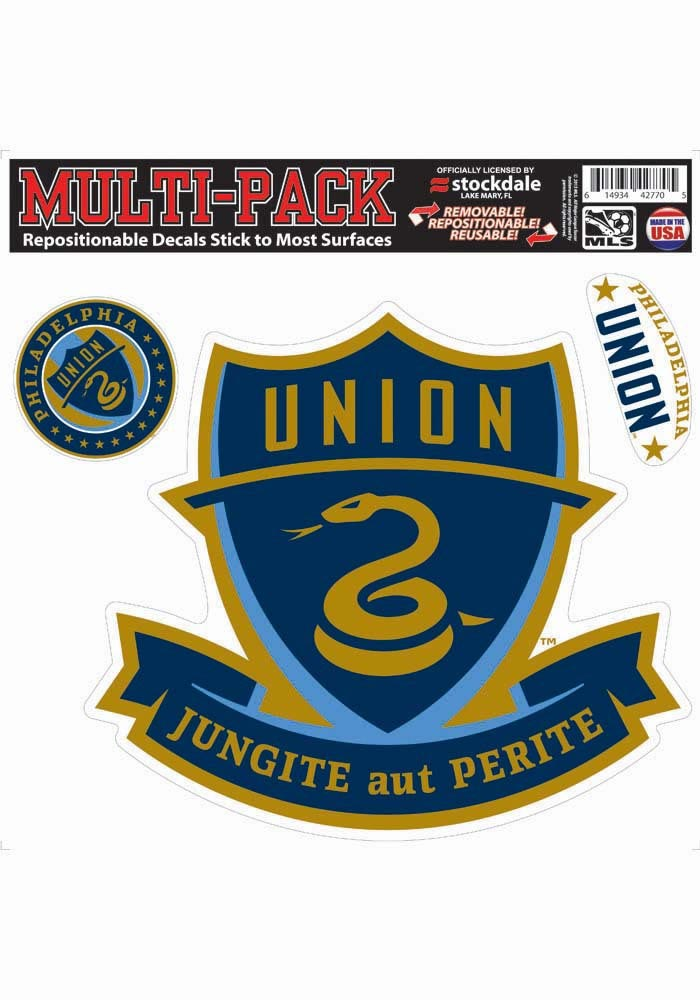 Philadelphia Union 12x12 Mulit Pack Auto Decal - Navy Blue