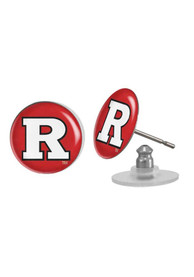 Rutgers Scarlet Knights Womens Domed Post Earrings - Red